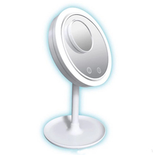 New LED Makeup Mirrors 1PC 5x Makeup Mirror With Fan Makeup Mirror Three-in-one Lighted Mirrors With Fan Best Gift carmate fan shaped sub mirror one pair in