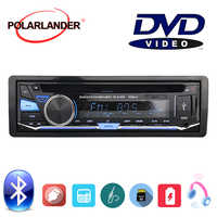 With Remote Control Audio Music Car Radio Stereo BT Bluetooth CD DVD MP3 player 1 DIN FM AUX IN USB SD card Removable panel