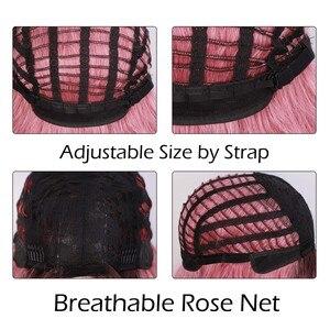 Image 3 - Длинные волнистые парики AISI QUEENS, розовый парик, синтетические парики для женщин, косплей, блонд, серый, коричневый, черный, красный, парики для продажи
