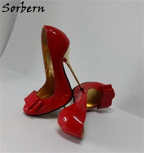 Image 3 - Sorbern White Women Pump High Heel Shoe Stilettos Custom Color For Every Party Shoe Staple Heels 12Cm 13Cm 14Cm 15Cm 16Cm 18Cm