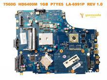 Original für ACER 7560G laptop motherboard 7560G HD6400M 1GB P7YE5 LA-6991P REV 1,0 getestet gute freies verschiffen