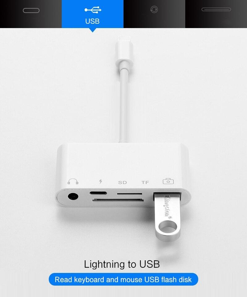 Ajiuyu Otg Lightning Usb Adapter Converter For Apple Ipad Air 3 2 Pro Mini 4 5 10 2 9 7 Hub Hdmi Dock Connect Keyboard Camera Flash Sale 3dc996 Cicig