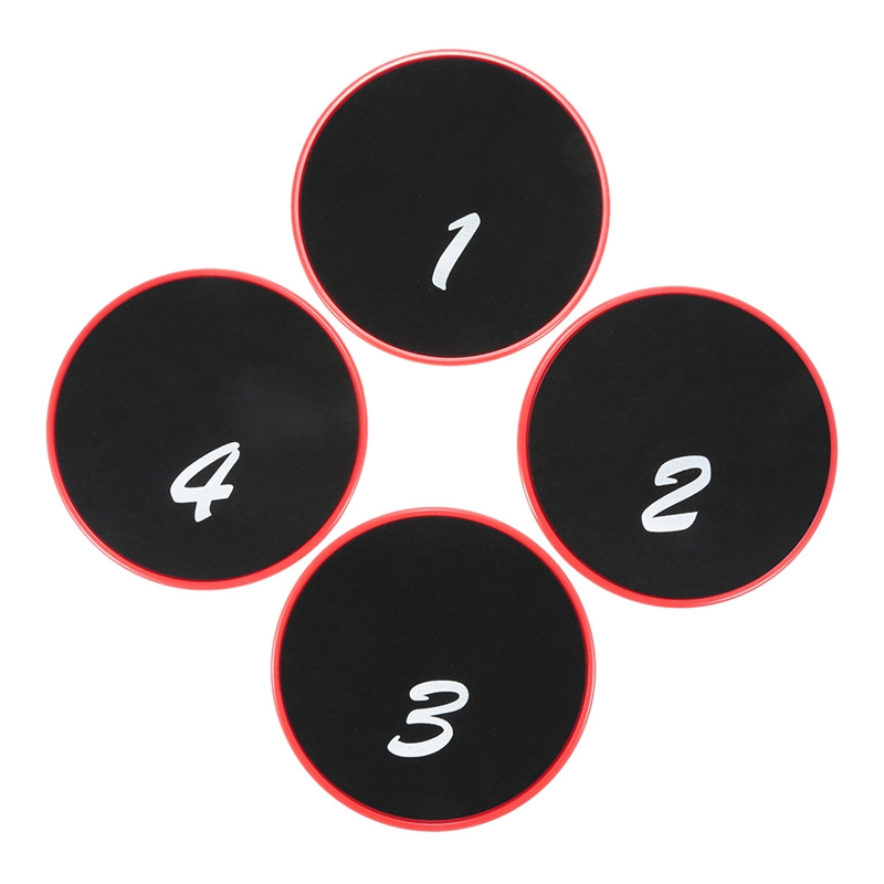 4Pc Fitness Gliding Discs Gym Slider Fitness Disc Exercise Core Slider Cross Training Sliding Disc Fitness Equipment