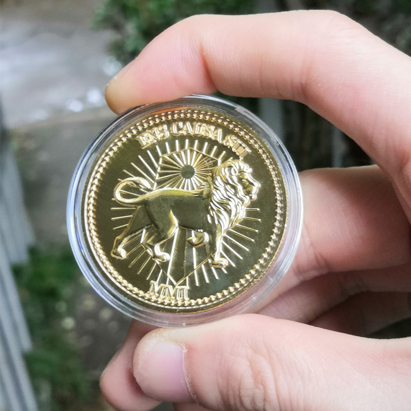 Movie John Wick Continental Hotel Gold Coin Cosplay Props Replica Accessories