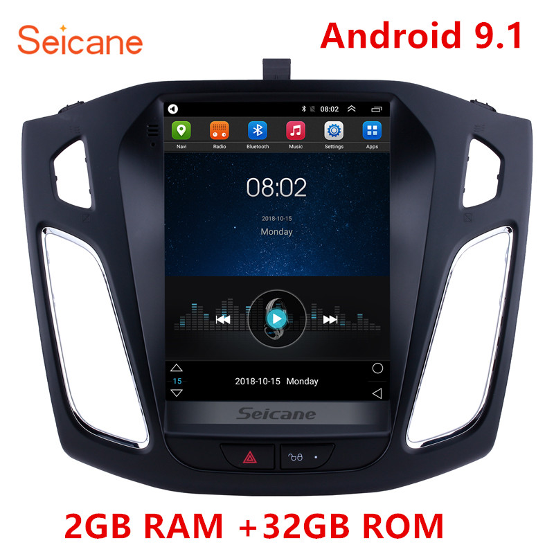 Image 1 - Seicane 2GB RAM 32GB ROM car gps multimedia video radio player for Ford Focus 2012 2013 2015 Support WIFI OBD2 Rearview CameraCar Multimedia Player   -