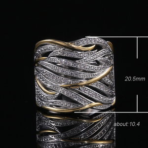 Image 5 - Huitan Unique Shape Women Ring Bridal Wedding Ceremony Rings High Quality Special interest Versatile Accessories Trendy Rings