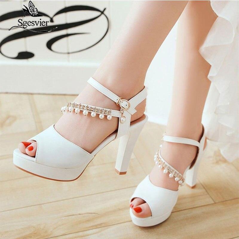Mujeres Zapatos de plataforma gruesa de la rodilla Botas altas Moda Plata Roja Con Cordones De Tamaño Grande