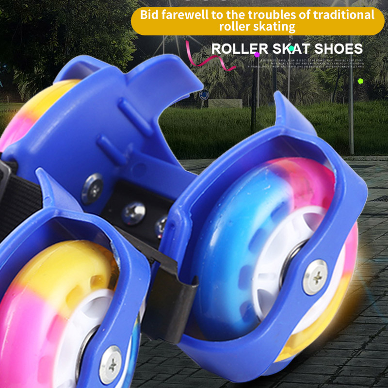 Flashing Roller skates Colorful Whirlwind Pulley Flash Wheels Heel Skating Shoes for kids Adult Adjustable Simply Roller Shoes