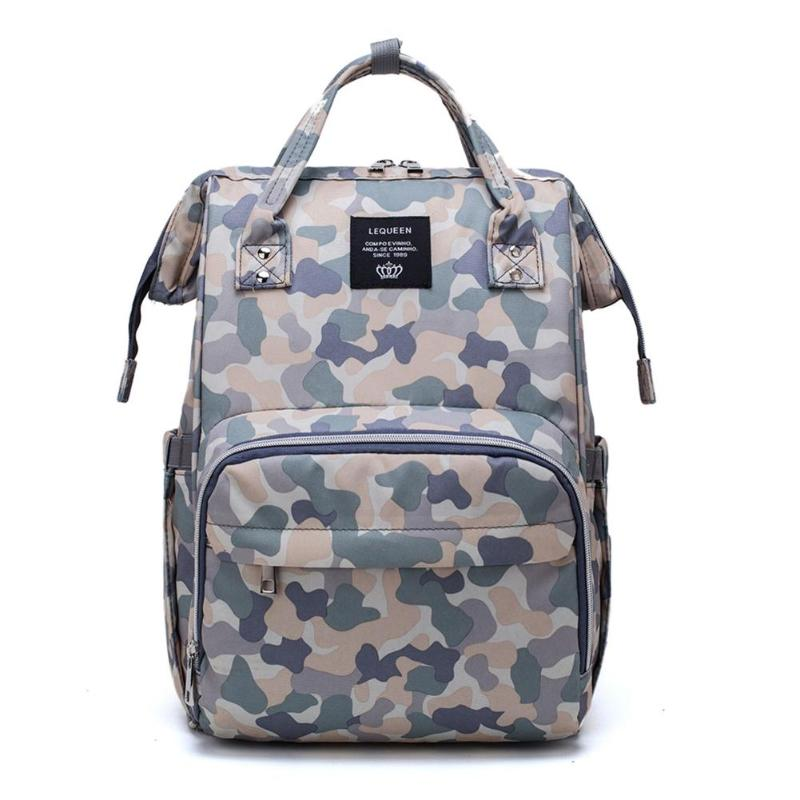 Camo Print Mummy Maternity Backpack Waterproof Diaper Bags Mommy Daddy Travel Bag Large Capacity Casual Nursing Handbag