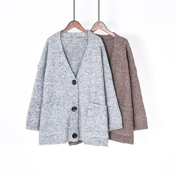 Toppies Winter Women Cardigan Loose Oversize Knitted Jacket Coat Lazy style leisure sweater coat
