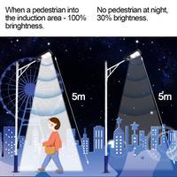 90W 180LED Solar Street Light Radar Motion Sensor Garage Light Outdoor Waterproof Wall Lamp Garden Park Pathway