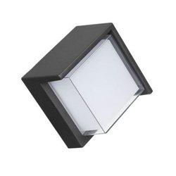 Kenlux 7W oświetlenie naścienne led energooszczędna lampa kwadratowa wewnętrzna zewnętrzna wodoodporna lampa nowoczesna lampa ogrodowa Park oświetlenie krajobrazu w Zewnętrzne lampy ścienne od Lampy i oświetlenie na