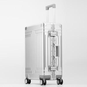 Image 5 - Valise de voyage avec roue en alliage daluminium 100%, valise de marque de qualité supérieure à chariot à bagages à main
