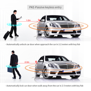 Image 5 - מכירה לוהטת אוניברסלי Keyless כניסת מערכת אוטומטי להתחיל להתחיל להפסיק כפתור מרחוק מנוע Start Pke רכב מעורר