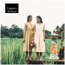 Toppies 2020 summer sleeveless khaki dress v-neck cotton midi dress for women summer korean fashion