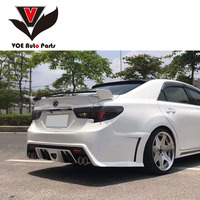Mark X 3pcs/set ABS Plastic Sporty Car styling Rear Trunk Wing Spoiler for TOYOTA Mark X 2010 2018