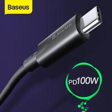 Baseus – câble USB type-c PD 100W pour recharge rapide et transfert de données, cordon de chargeur usb-c vers usb-c pour MacBook Pro et Samsung S20/S10/Huawei P40