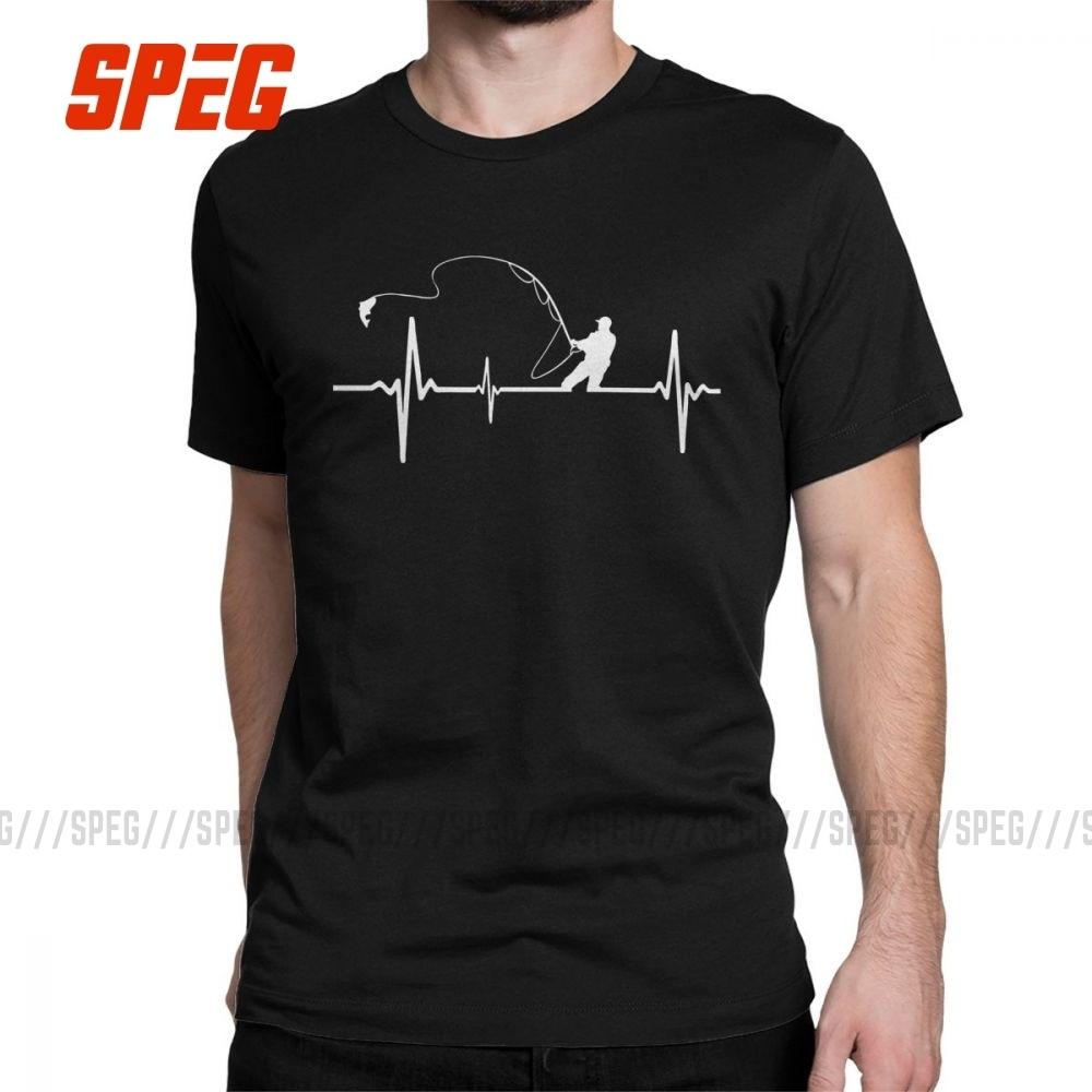 Short Sleeve Shirts Fishing Heartbeat Tee Shirt
