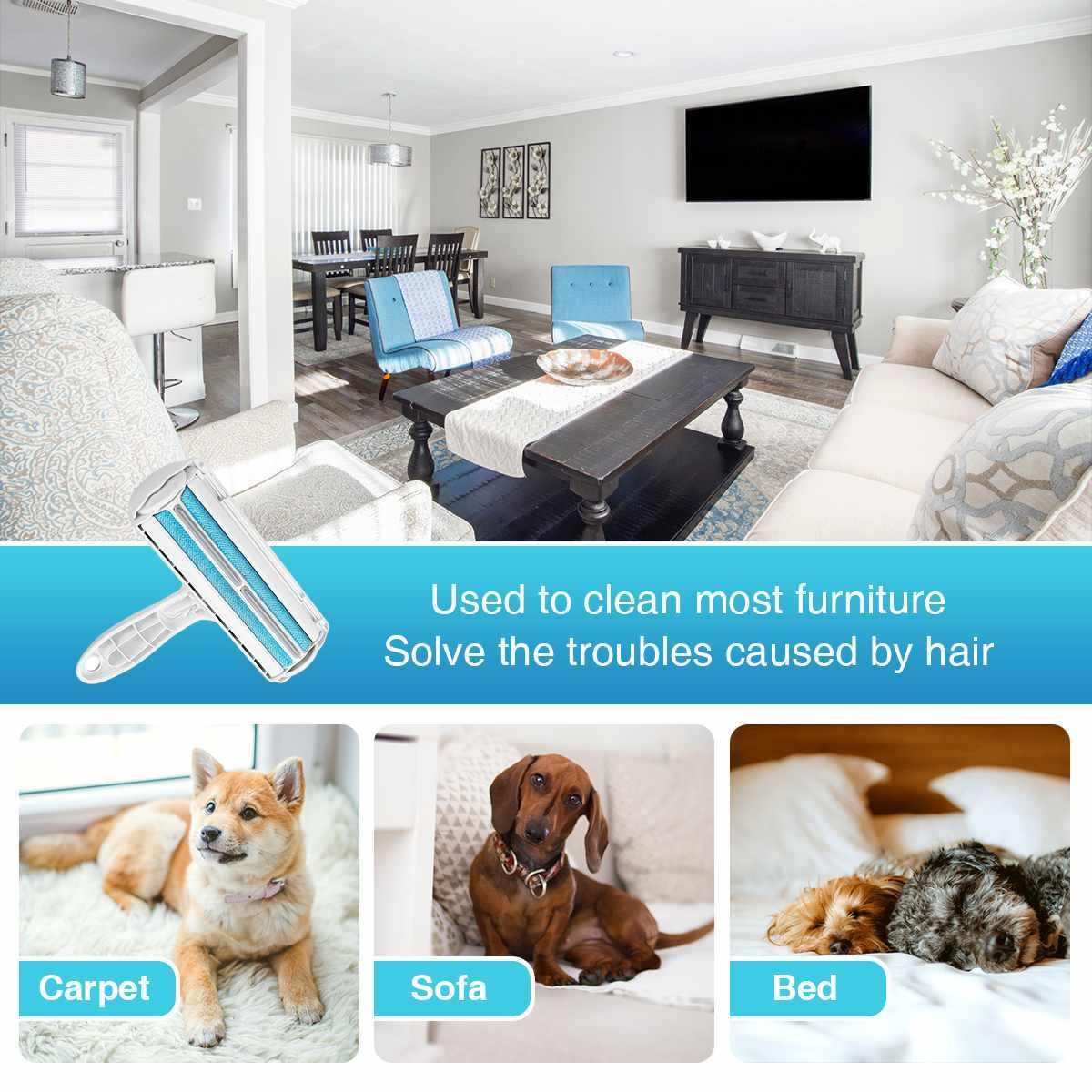 Rambut Hewan Peliharaan Remover Cleaning Sikat Bulu Menghilangkan Roller Serat Sikat Anjing Kucing Hewan Sikat Mobil Pakaian Sofa Sofa Karpet sisir