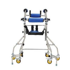 Image 4 - MHKBD 6 bánh xe Đi Bộ Viện Trợ Anh Cả Walker Tuổi Người Tập Đi Hình Đi Bộ Phục Hồi Chức Năng Thiết Bị Chống lạc hậu Rollover Kệ