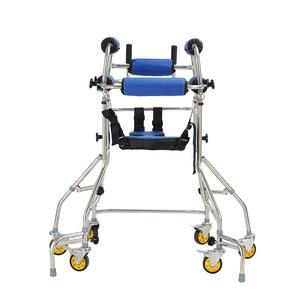 Image 4 - MHKBD 6 wheels Walking Aid Elder Walker Old People Walking Stick Walking Rehabilitation Device Anti backward Rollover Shelf