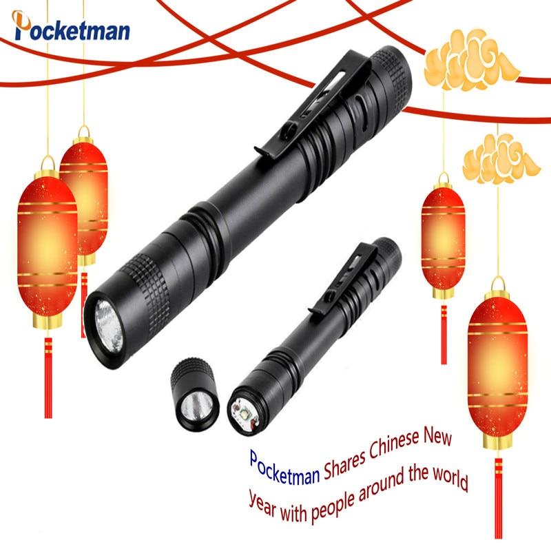 Handheld Pen Light Linterna Pocket Torch With High Lumens For Camping Fishing 4 PCS Super Small Mini LED Flashlight Set