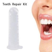 Kit de reparación temporal de dientes, dentadura postiza, pegamento sólido, adhesivo para dentadura, blanqueamiento dental, herramienta de belleza