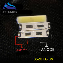 500PCS FÜR LG SMD 8520 LED Innotek LED Led hintergrundbeleuchtung 0,5 W 8520 3V Kühles weiß 50 55LM TV anwendung