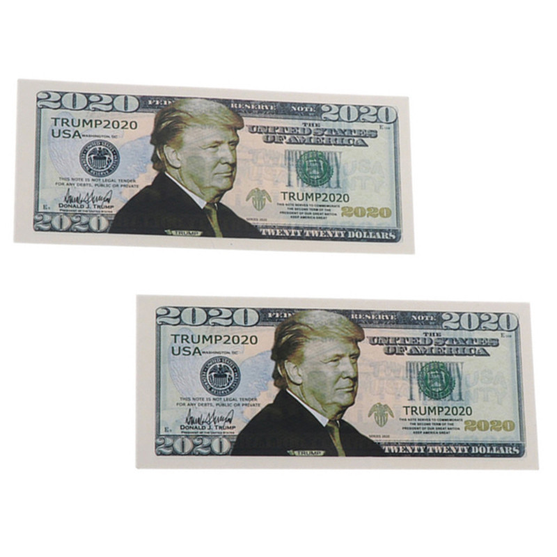 10pcs 2020 Donald Trump Commemorative Coin President Paper Banknote Non-currency Novelty Toys