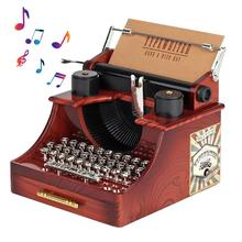 Creative Classic Typewriter Model Music Box Wood Metal Antique Musical Boxes Birthday Wedding Gift Toy Decoration Music Box dance king classic music box with rc color light vintage metal diy birthday valentine day gift girl musical boxes christmas gift