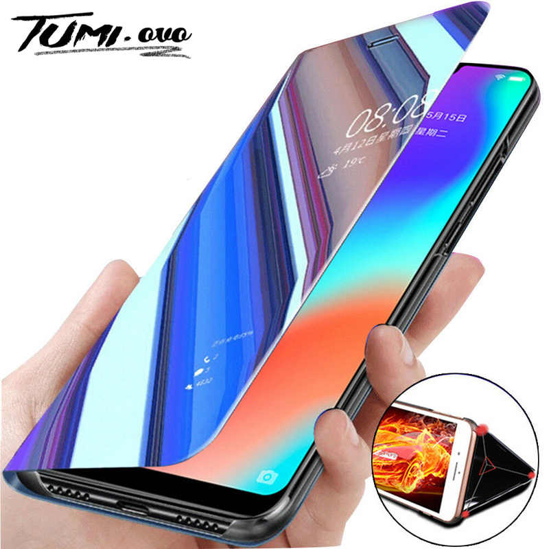 Mi rror flip Case Voor Xiao Mi mi 9 se 5X 6X A1 A2 LITE POCOPHONE F1 Cover VOOR RODE mi note 8 pro 4A 4x5 5A PRIME 6 6A 7 S2 COQUE