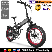 Cruiser Electric Fat Bike 48V 750W Bafang Motor Mens Mountain Bicycle Folding 20\