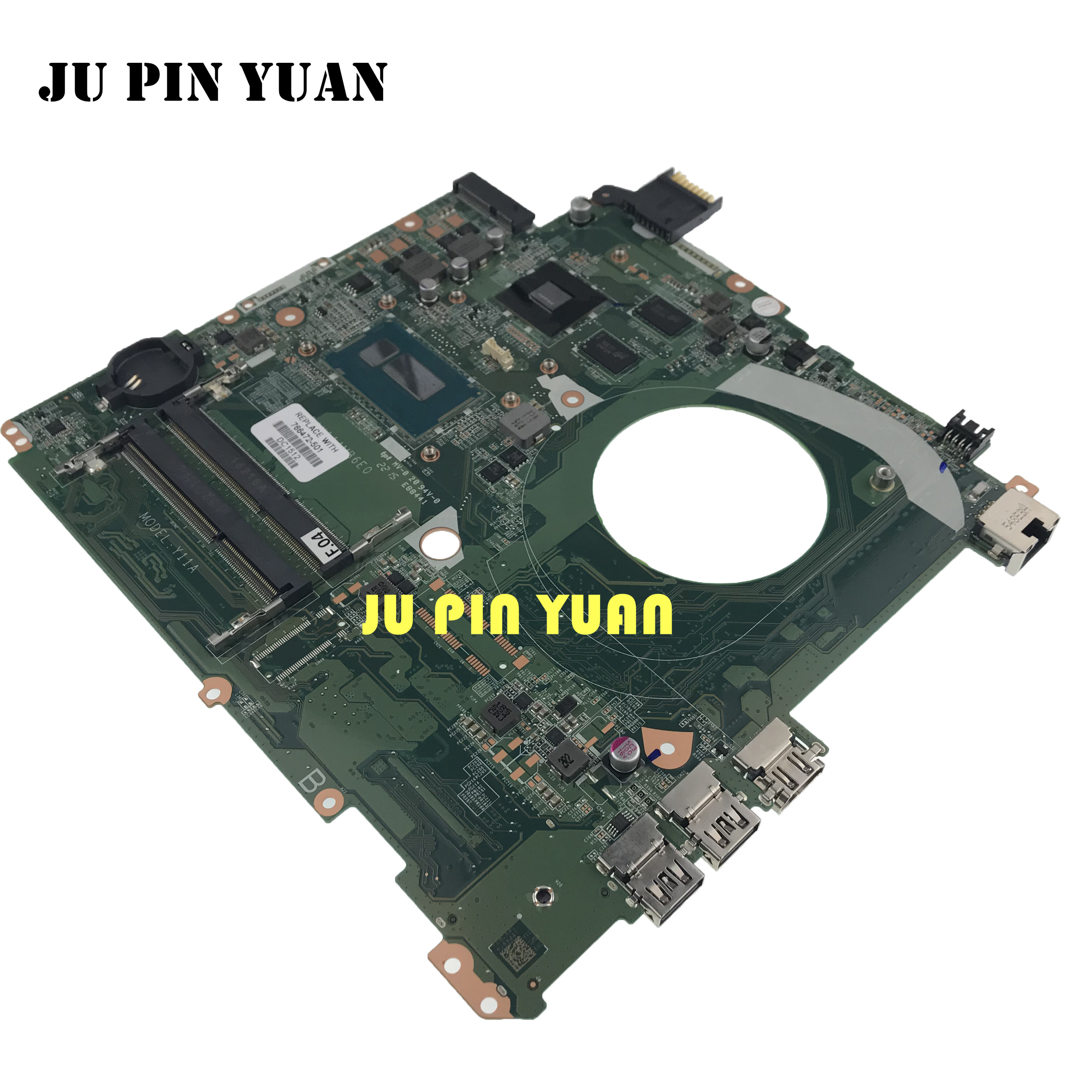 JU PIN YUAN For HP 15 15-P Laptop Motherboard DAY11AMB6E0 766472-001 766472-501 i7-4510U DDR3 <font><b>GT</b></font> <font><b>840M</b></font> 2GB notebook pc mainboard image