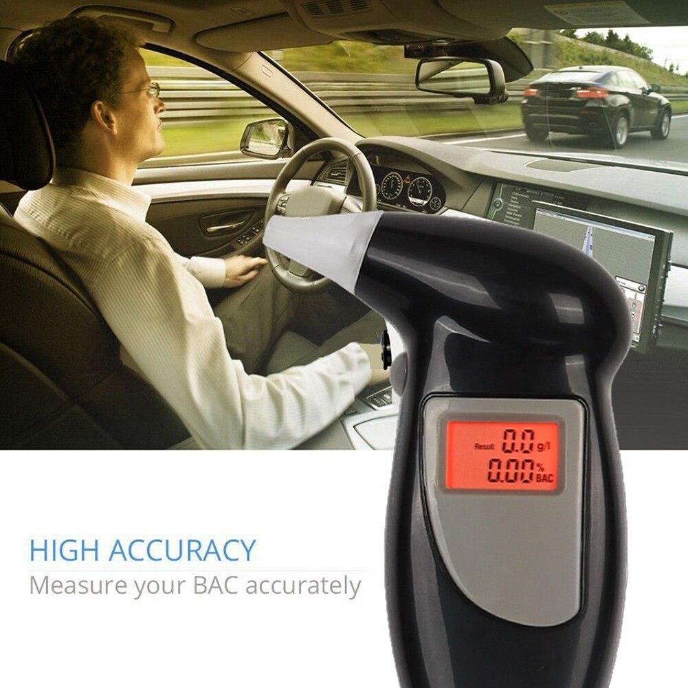 Portable Digital Alcohol Analyzer Detector Test Tool LCD Display Breathalyzer with Backlight M8617