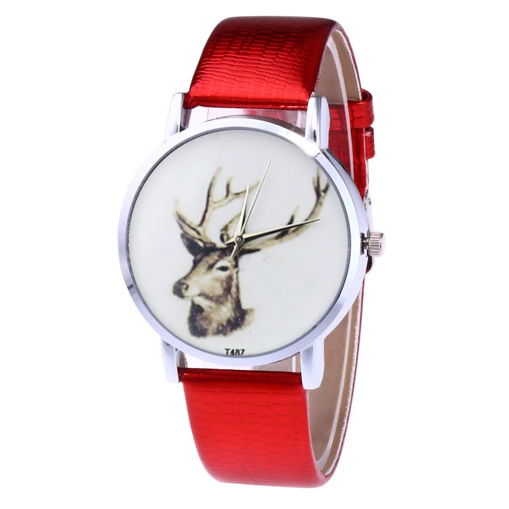 Retro Style Couple Watches Ladies Men PU Leather Strap Quartz Watch Round Dial Watches  LL@17