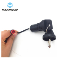 Electric Scooter Ignition Key Switch for Maxmov Scooter Evoking with 2 Male Plug-in