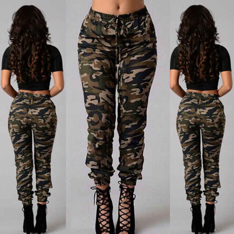 Womens Camo Cargo Broek Casual Broek Militaire Army Combat Camouflage Broek Losse Jogger Broek Vrouwen 2019 Joggingbroek