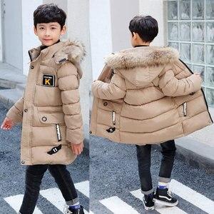 Image 3 - 2020 חדש חורף בגדי בני 4 להתחמם 5 ילדי 6 סתיו חורף 9 מעיל 8 בגיל עמידה 10 שנה 12 ערימה עבה כותנה מעיל