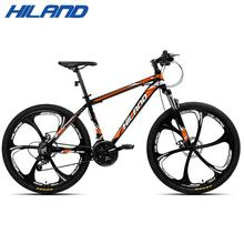 HILAND Bicycle 26 21 Speed Suspension Mountain Bike,Mechanical Disc Brake with TZ50 and TEC Chains,CTS Tires