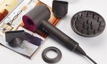 Secador de cabelo anion salão barbeiro blow poderoso doméstico viagem secagem rápida íons negativos bocal magnético