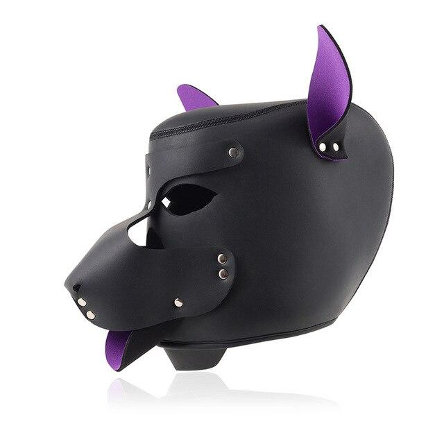 Sadomasoquismo erótico autobondage ataduras cuero perro cabeza máscara con correa cuerda Collar de Bondage mitones SM Slave Slut Dog Play juguetes sexuales