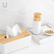 Factory Direct Currently Available Automatic Press-Cotton Swab Tube Manual Garlic Press Toothpick Holder Portable Environmentall(China)