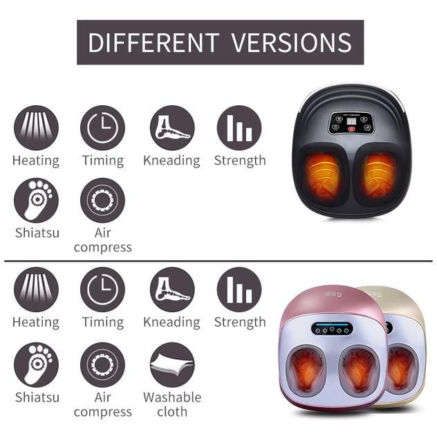JinKaiRui Electric Vibrator Foot Massager Health Care Massage Infrared Heating Therapy Shiatsu Kneading Air Pressure Machine 1