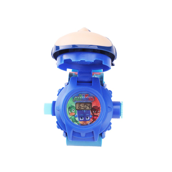PJ Masks Toys 3D Projection Watch Set Clock Action Figure anime Patterns Time Kids Birthday Gifts