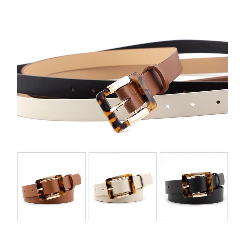 2020 Vintage Designer Brand Black Brown Leather Belt For Women Leopard Waist Belts Ladies Female Wild Thin Jeans Dress Strap