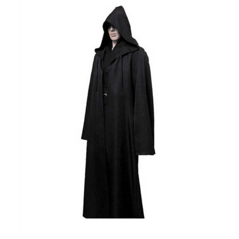 1 Máy Tính Mới Darth Vader Terry Jedi Áo Choàng Đen Hiệp Sĩ Jedi Áo Khoác Áo Choàng Halloween Trang Phục Hóa Trang Mũi Cho Người Lớn