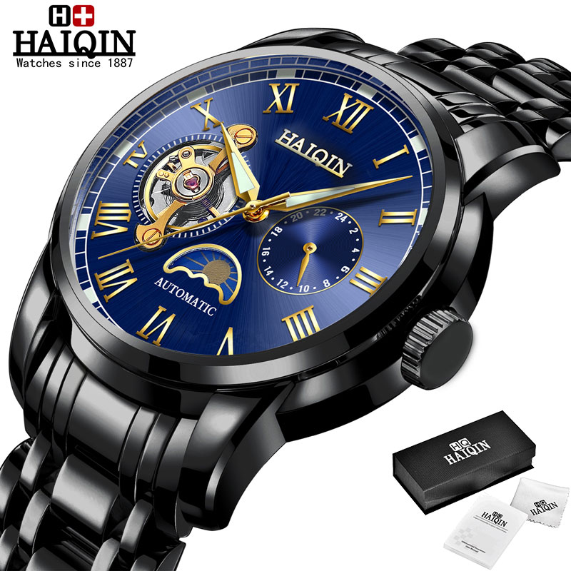 HAIQIN Mechanical watches mens automatic wrist watch for mens watches top brand luxury watch men Tourbillon relojes hombre 2020 16