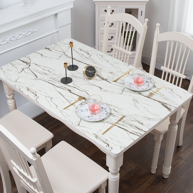 Pvc Tablecloth Imitation Marble Table