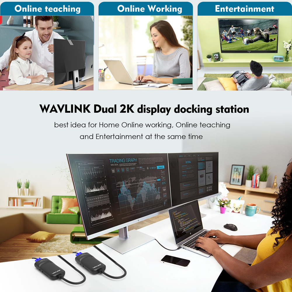 Image 5 - Wavlink USB 3.0 To HDMI Multi Monitor Video Graphic Adapter HD  1080p Output External Video Card Adapter DP Display free shippingusb  3.0 to hdmivideo card adaptermulti monitor