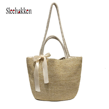 Straw Bag Women Shoulder Bags And Handbags Summer Fashion Weave Bag Crossbody Bags for Woman Shoulder Bolsos Wicker Ladies Bag leisure straw and sequins design shoulder bag for women